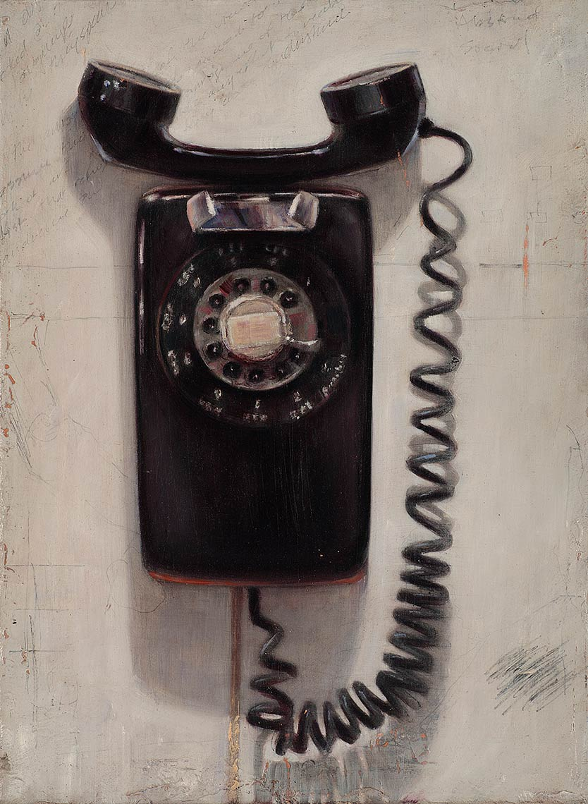 Phone_2011_oil-on-canvas_30x25_12x10_Private-Collection