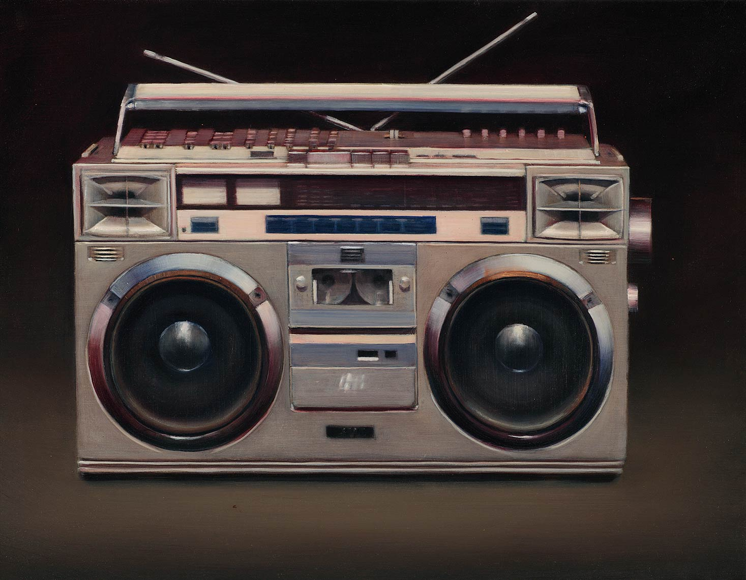 Radio..._2010_oil-on-canvas_29x54_21x27_Private-Collection