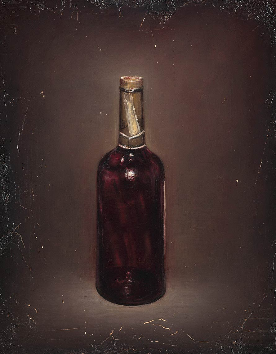 The-Last-Bottle_2012_oil-on-canvas_51x41_20x16_Private-Collection