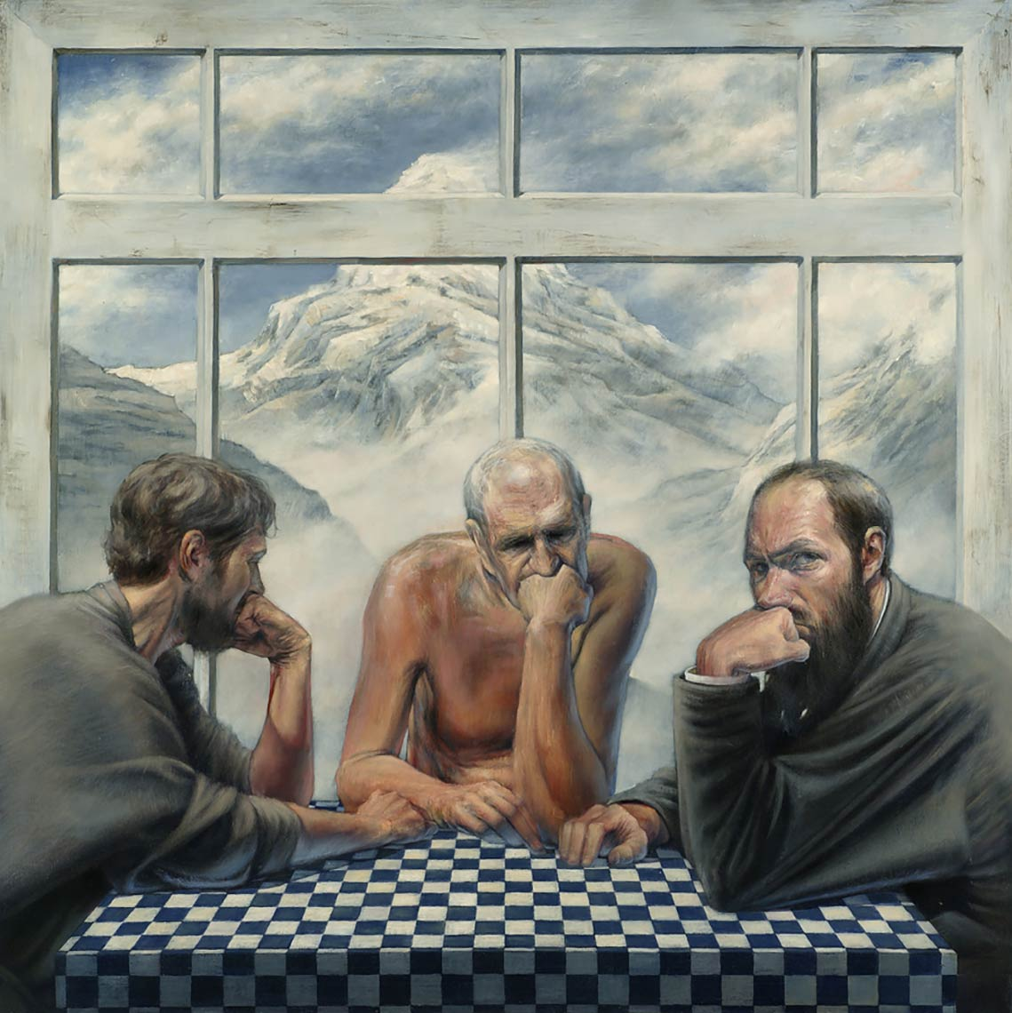 The-Three-Alones_2008_oil-on-canvas_99x99_39x39_Available