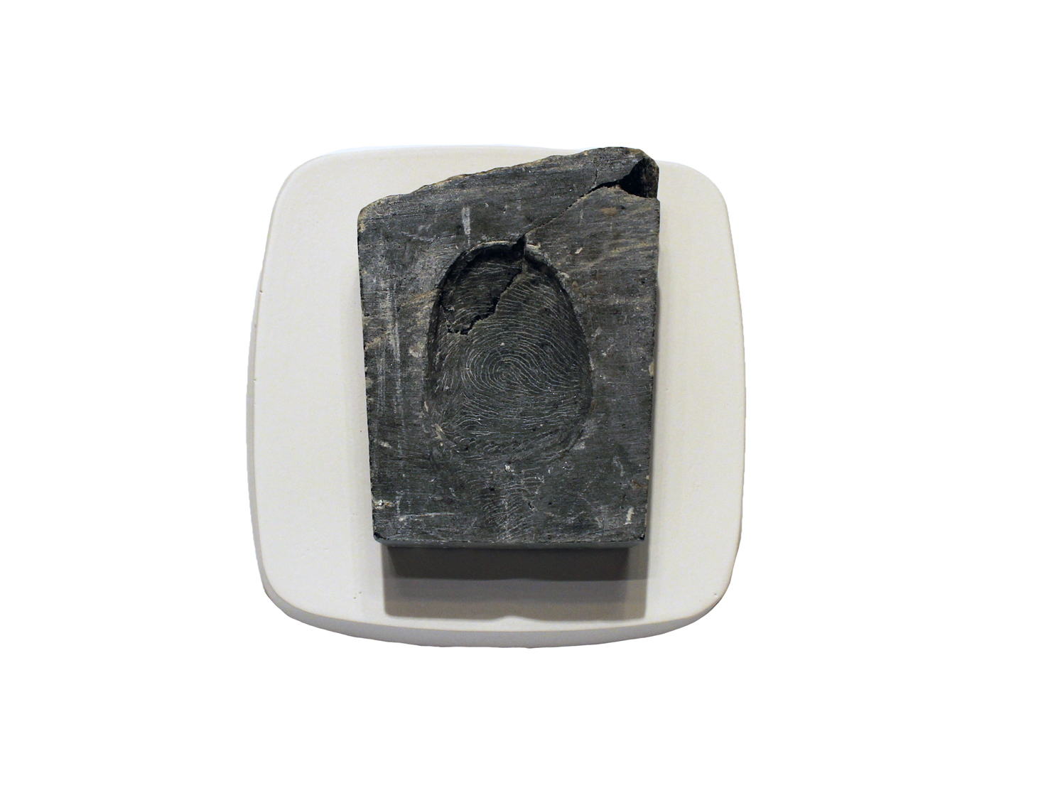 TheHandoftheArtistNegativeThumbimpressionmoquette_2014_soapstone_7.5x10x2.5_3x4x1_Available